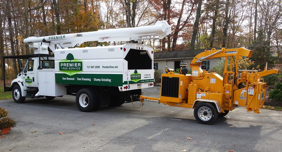 Visual Identity on bucket truck