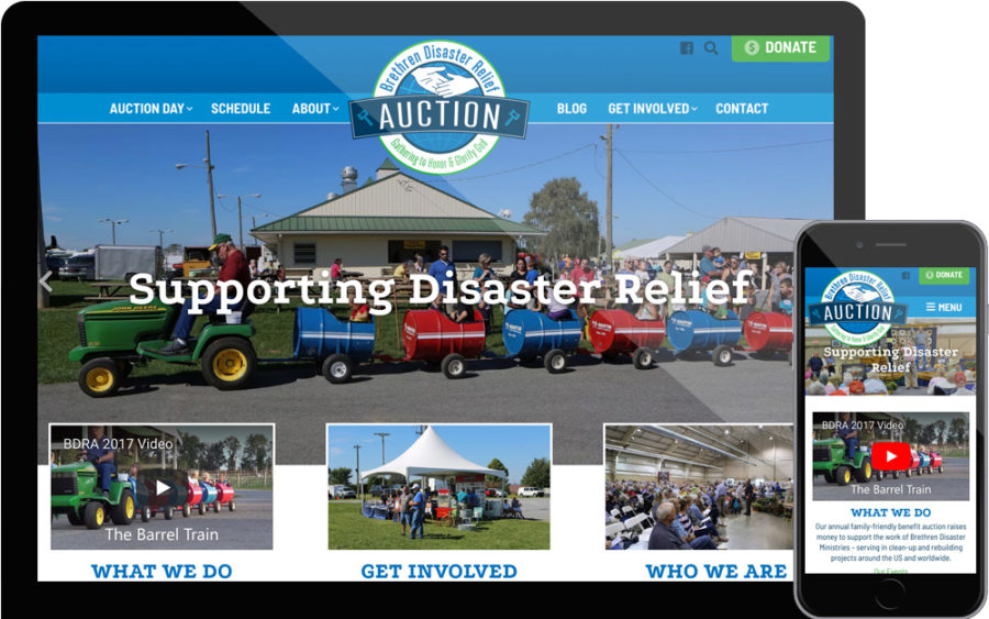 Brethren Disaster Relief Auction website