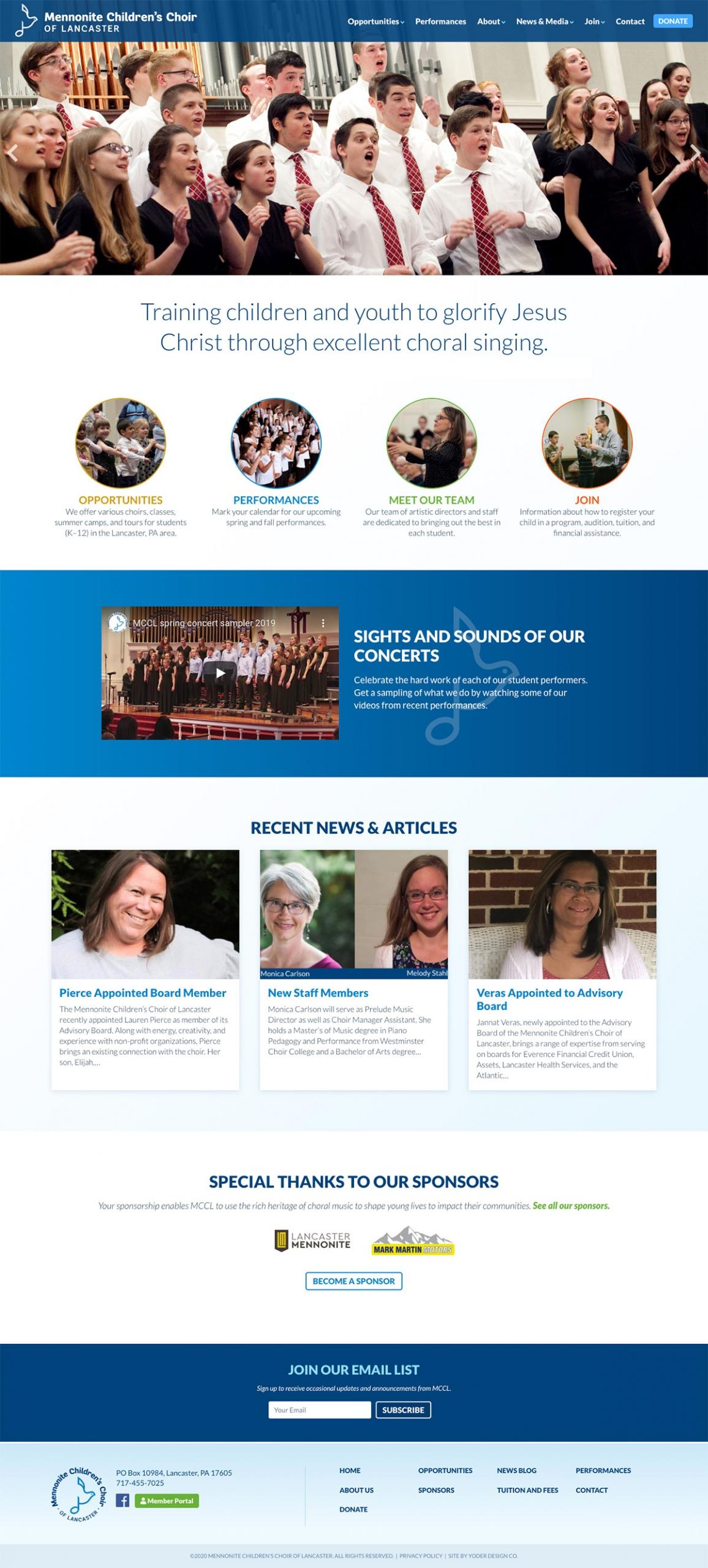 MCCL homepage